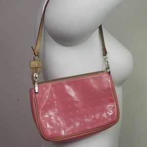Arcadia patent leather made in Italy pink purse